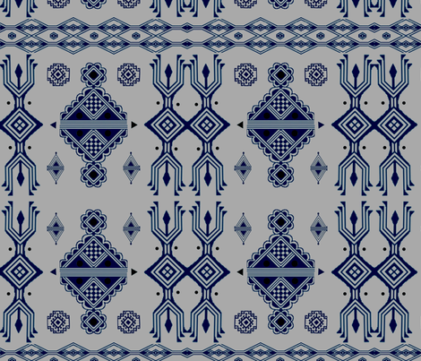 tanit in blue fabric by elphaba09 on Spoonflower - custom fabric
