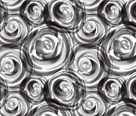 black white roses fabric by flowie on Spoonflower - custom fabric