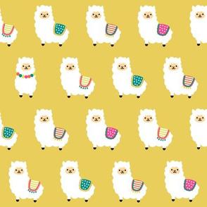 Alpaca Party - Golden Ocre Yellow