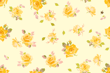 Charlotte buttercup fabric by lilyoake on Spoonflower - custom fabric