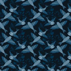 Blue Birds - small scale