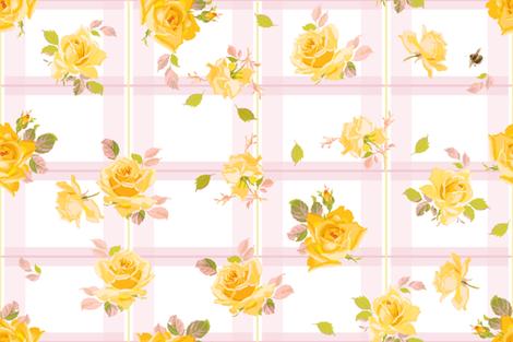 Charlotte Tartan sorbet fabric by lilyoake on Spoonflower - custom fabric