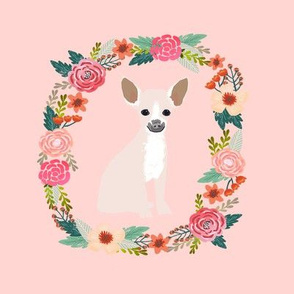 8 inch chihuahua wreath florals dog fabric