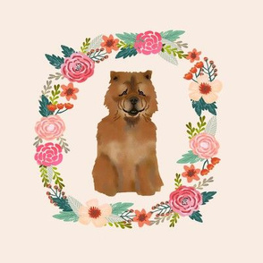 8 inch chowchow wreath florals dog fabric wreath