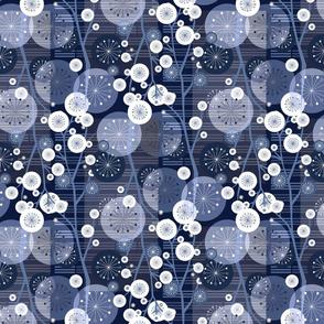 Suki Floral Midnight Blue- MediumSize