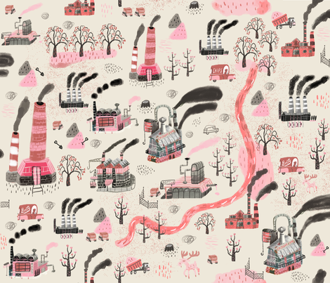 factory town fabric by skbird on Spoonflower - custom fabric