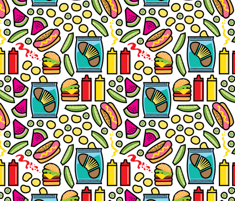 aloha bbq fabric by alohababy on Spoonflower - custom fabric
