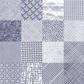 Postal Patchwork* (Jackie Blue)    security envelope mail snail post postal pattern cheater quilt squares