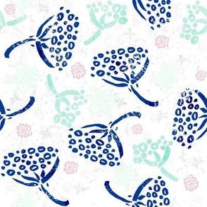 Herbal batik #5 (white)