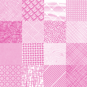 Postal Patchwork* (Pink Riot) || security envelope mail snail post postal pattern cheater quilt squares