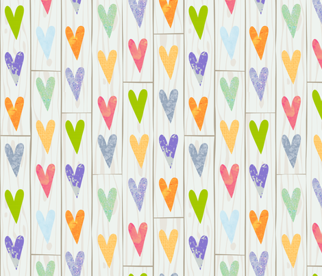 Reclaimed Hearts fabric by seesawboomerang on Spoonflower - custom fabric