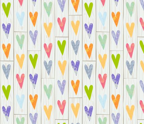Reclaimed Hearts fabric by seesawboomerang on Spoonflower - custom fabric