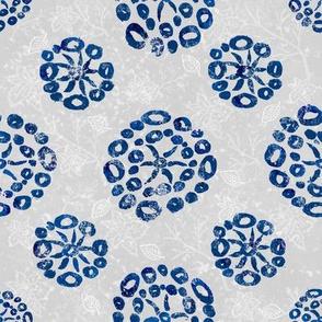 Herb-dill batik #5 (grey-navy)