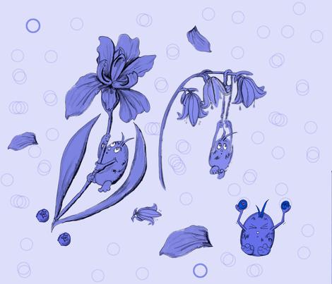 BlueBug Works Out fabric by alohajean on Spoonflower - custom fabric