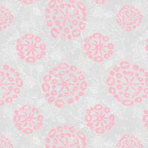 Herb-dill batik #5 (grey-peach)