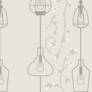 Pendant Lights & Cotton Branches