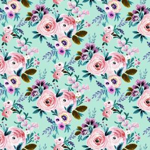 Victorian Floral M - Mint