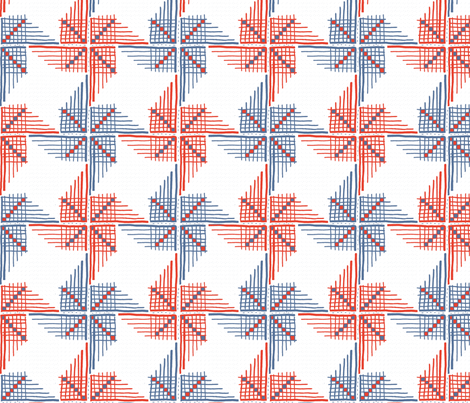 Pinwheel Gingham fabric by lovesunnylauren on Spoonflower - custom fabric