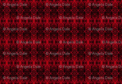 Shibori Stripe Red