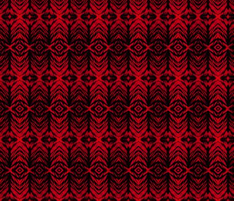 Shibori Stripe Red fabric by fabricadabra_creations on Spoonflower - custom fabric