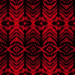 Shibori Stripe Red