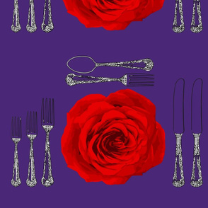 Fine Dining and Flowers Purple