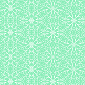 Mint Daisy Graphic Design Pattern