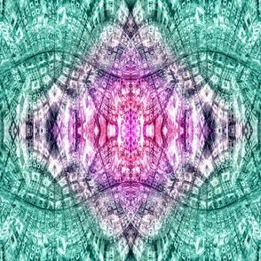 Cubic Reflections (Pink and Aqua)