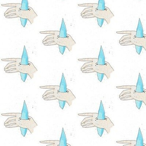 Aquamarine hands
