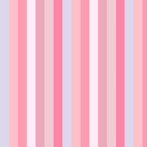 pink stripe // Candy Pink Stripe border Yard of pink stripes with chevron border fabric by magentarosedesigns on Spoonflower - custom fabric