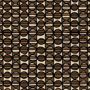 Stripe The Dots - Brown