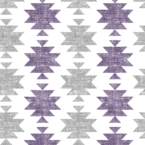 modern aztec || woven purple and grey fabric by littlearrowdesign on Spoonflower - custom fabric