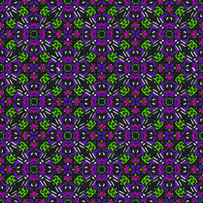 Floral Tile Purple