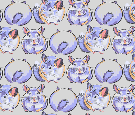 CHINCHILLAS fabric by wxstudio on Spoonflower - custom fabric