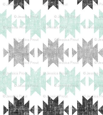 modern aztec || black, custom mint,grey  C18BS (90)
