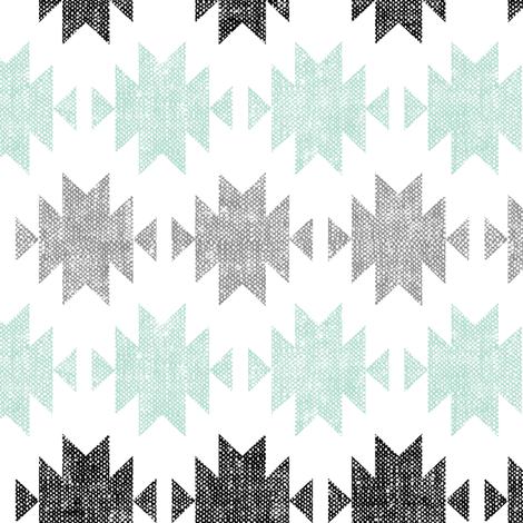 modern aztec || black, custom mint,grey  C18BS (90) fabric by littlearrowdesign on Spoonflower - custom fabric