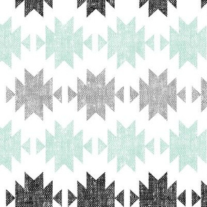 modern aztec || black, custom mint,grey  C18BS (90)