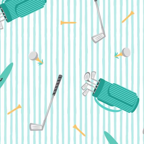 tee time - golf themed fabric fabric by littlearrowdesign on Spoonflower - custom fabric