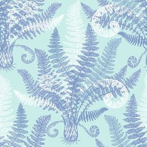 White-Serenity Ferns (mint)