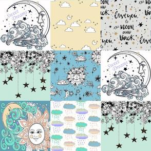 sun moon stars quilt