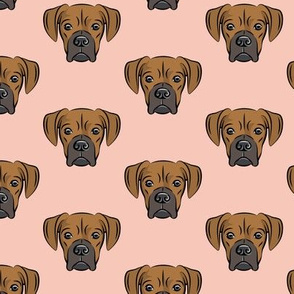 boxers on salmon peach - dog fabric