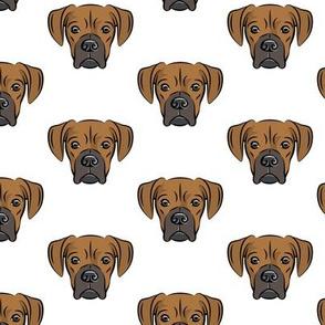 boxers - dog fabric
