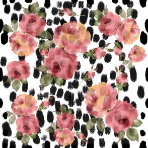 101 Watercolor roses