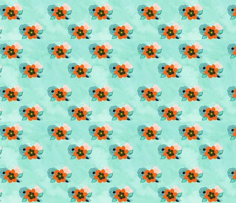 marigold_floral_spoonflower fabric by rbarkowski on Spoonflower - custom fabric