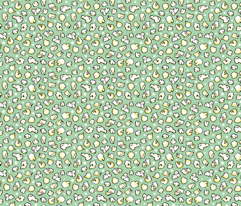 popcorn party mint green fabric by colorofmagic on Spoonflower - custom fabric