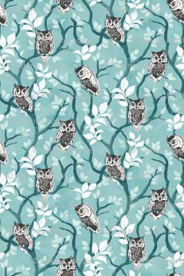 Tangled wood owls