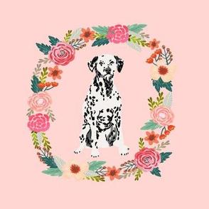 8 inch dalmatian wreath florals dog fabric