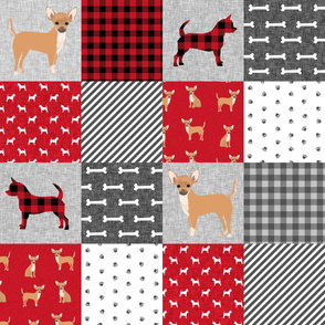chihuahua pet quilt a dog breed cheater quilt wholecloth fabric