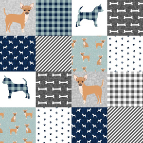 chihuahua pet quilt b dog breed cheater quilt wholecloth fabric