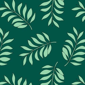 Palm spring leaves sweet minimal botanical garden summer design green lush mint